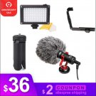 DJI Osmo Mobile 2 Video Setup Microphone L Bracket LED video light Mic Stand for Smooth Q Smooth 4 V