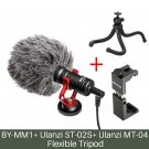 Ulanzi BOYA BY-MM1 Shotgun Microphone Video Interview Mic for Smooth Q/ DJI OSMO Nikon DSLR Camera/i
