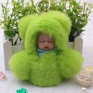 Baby Little Doll Key Chain Green