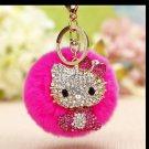 Kitty Doll Key Chain Fur Pink