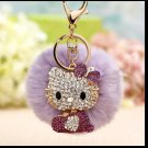 Kitty Doll Key Chain Fur Purple