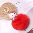 Kitty Big Doll Key Chain Fur Red