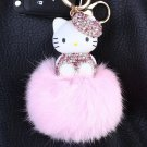Kitty Big Doll Key Chain Fur Pink