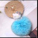 Kitty Big Doll Key Chain Fur Blue