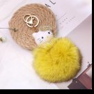 Kitty Big Doll Key Chain Fur Yellow