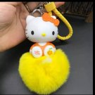 Kitty Doll Key Chain Pendant Yellow
