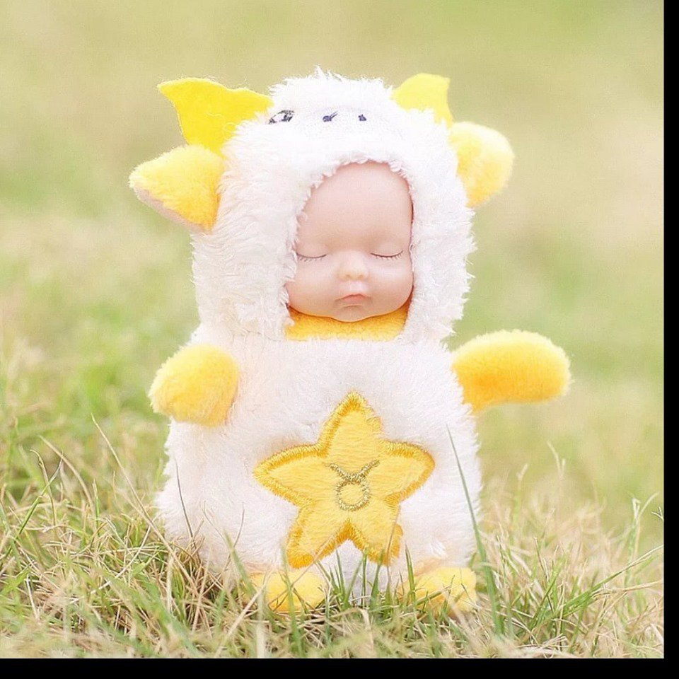 Baby Doll Key Chain yellow 1