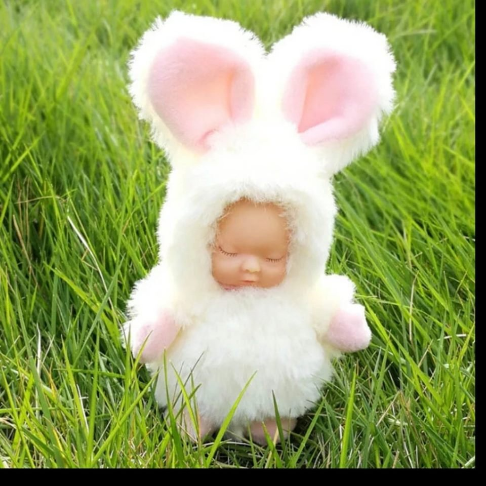 Baby Doll Key Chain white rabbit