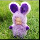 Baby Doll Key Chain  Purple Rabbit