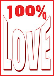 100% Love Fridge Magnet