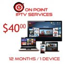 IPTV 12 MO SERVICES/ 1 CONNECTION/ INT'L CHANNELS