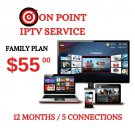 IPTV FAMILY PLAN/ 1 YEAR/  5 CONNECTION/ INT'L CHANNELS