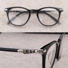 CH Hearts Biker Punk Round Frame Optical Glasses RIZZ-II Chrome Style
