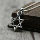 Chrome Hearts 925 Sterling Silver Biker Punk Pendant Jewish Star of David Necklace