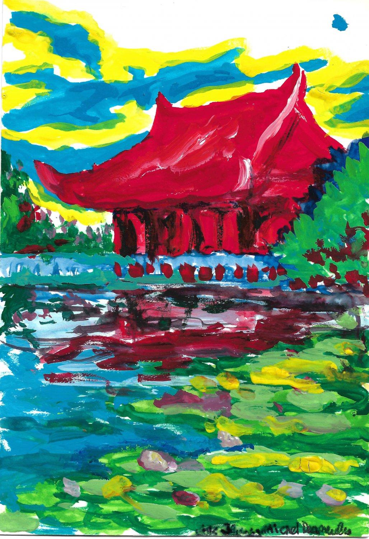 Montreal Botanical Garden pagoda - sku:i2