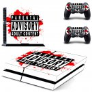 PS4 Parental Advisory Skin Sticker Decals PS4 Console And Controllers Protect Your PS4