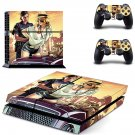Grand Theft Auto GTA PS4 Skin Sticker Decals PS4 Console And Controllers Protect Your PS4