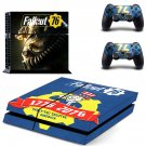 Fall Out 76 PS4 Skin Sticker Decals PS4 Console And Controllers Protect Your PS4
