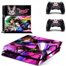 Overwatch DVA PS4 Skin Sticker Decals PS4 Console And Controllers Protect Your PS4