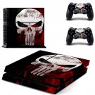 The Punisher PS4 Skin Sticker Decals PS4 Console And Controllers Protect Your PS4