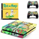 Rick And Morty PS4 Skin Sticker Decals PS4 Console And Controllers Protect Your PS4