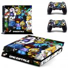 Undertale Anime PS4 Skin Sticker Decals PS4 Console And Controllers Protect Your PS4