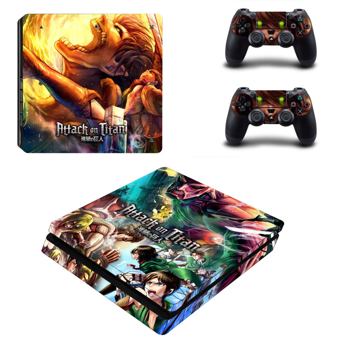 Attack On Titan PS4 Slim Skin Sticker Decals PS4 Console And Controllers Protect Your PS4