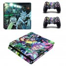 Rick And Morty PS4 Slim Skin Sticker Decals PS4 Console And Controllers Protect Your PS4