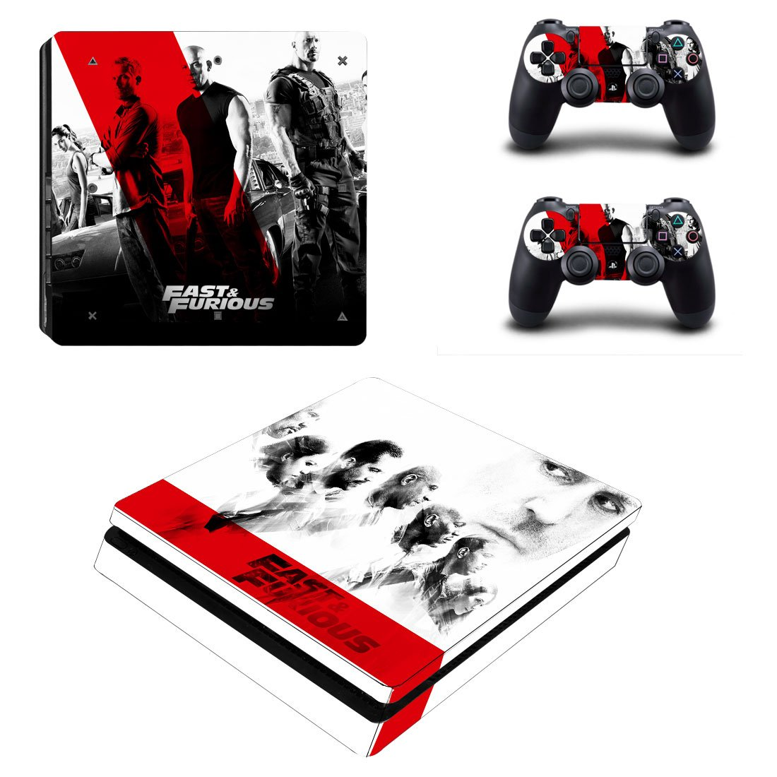 Fast And Furious PS4 Slim Skin Sticker Decals PS4 Console And Controllers Protect Your PS4