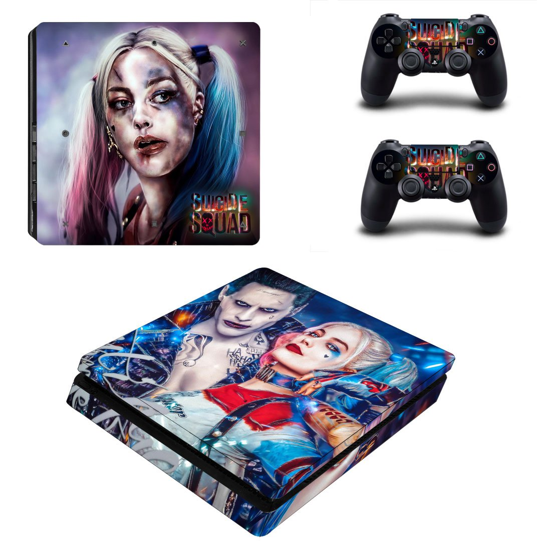 Suicide Squad Harley Quinn PS4 Slim Skin Sticker Decals PS4 Console And Controllers Protect Your PS4