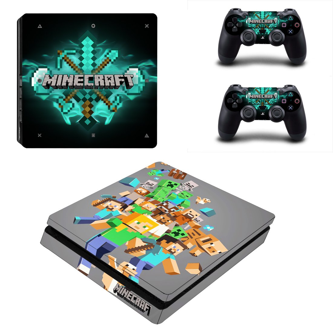 Minecraft PS4 Slim Skin Sticker Decals PS4 Console And Controllers Protect Your PS4