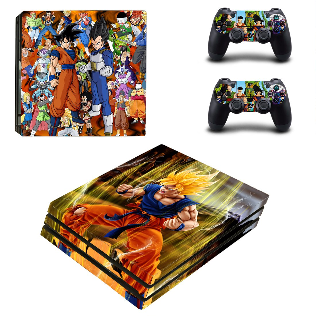 Dragon Ball Z PS4 Pro Skin Sticker Decals PS4 Console And Controllers Protect Your PS4
