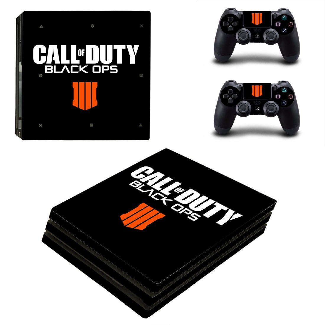 Call Of Duty Black OPS 4 PS4 Pro Skin Sticker Decals PS4 Console And Controllers Protect Your PS4