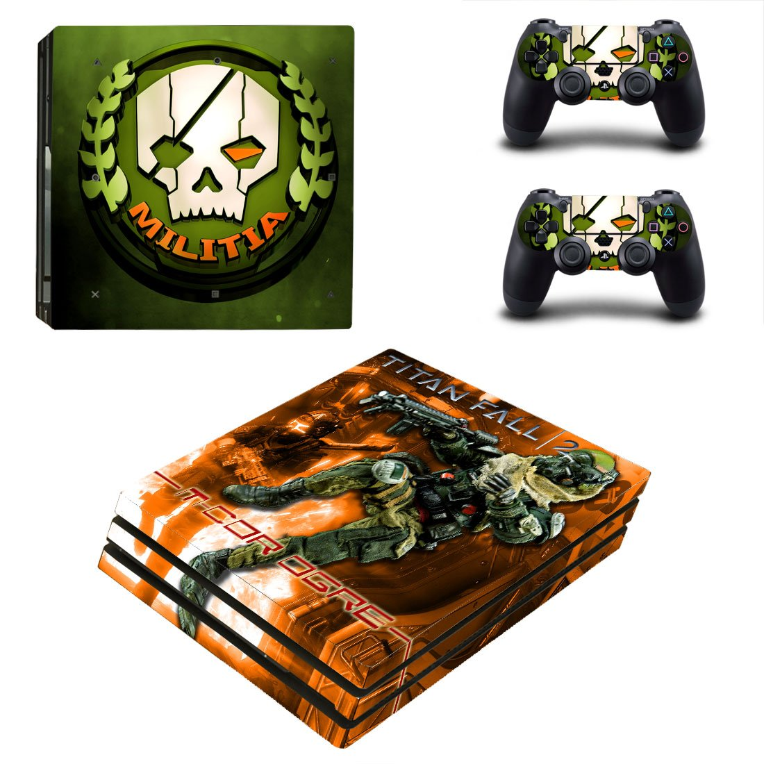 Titanfall PS4 Pro Skin Sticker Decals PS4 Console And Controllers Protect Your PS4
