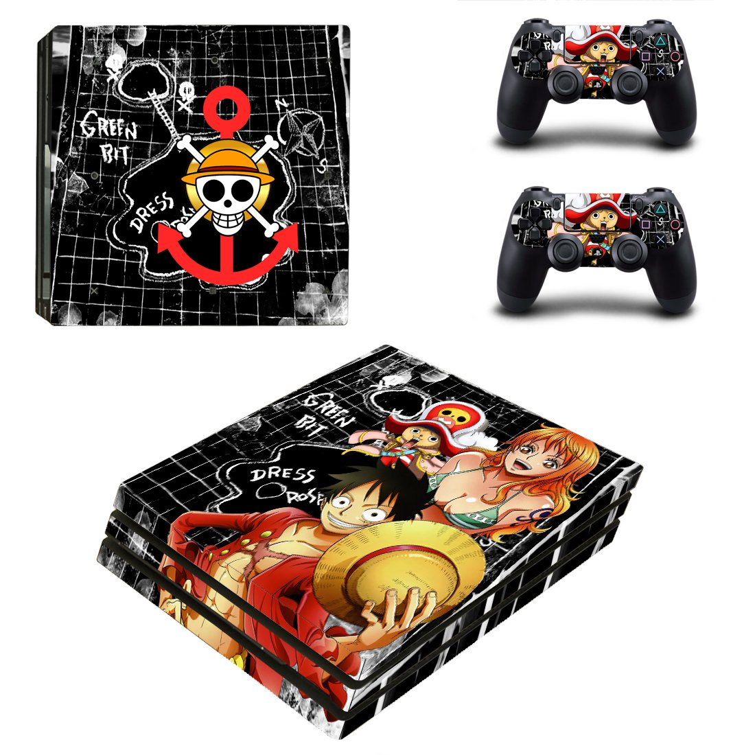 One Piece PS4 Pro Skin Sticker Decals PS4 Console And Controllers Protect Your PS4