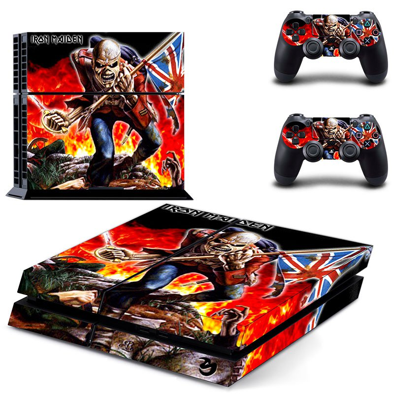 Iron Maiden PS4 Skin Sticker Decals PS4 Console And Controllers Protect Your PS4