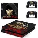 Mortal Kombat 11 PS4 Skin Sticker Decals PS4 Console And Controllers Protect Your PS4