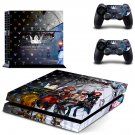 Kingdom Hearts PS4 Skin Sticker Decals PS4 Console And Controllers Protect Your PS4