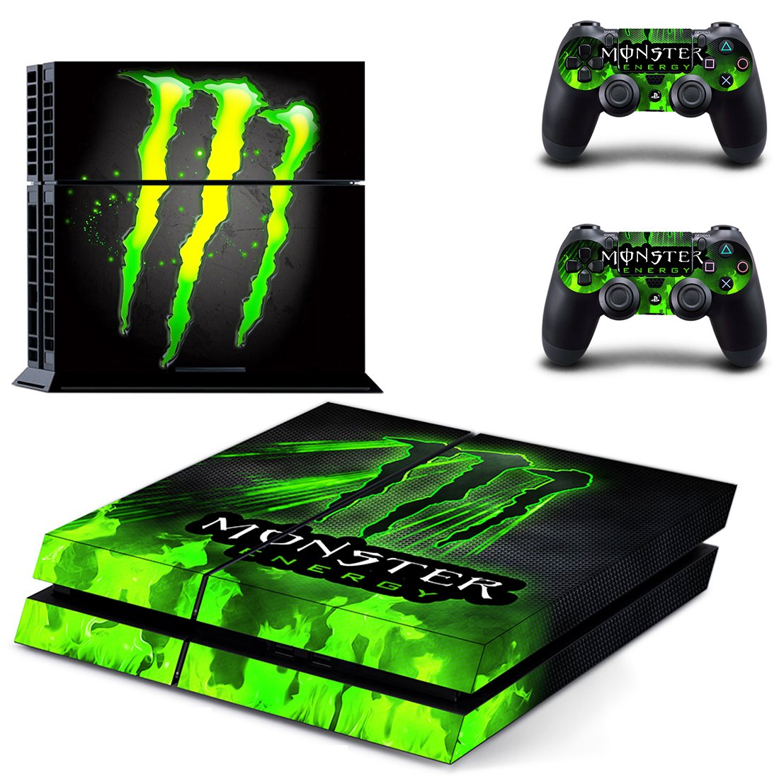 Monster Energy PS4 Skin Sticker Decals PS4 Console And Controllers Protect Your PS4
