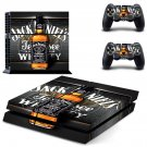 Jack Daniels PS4 Skin Sticker Decals PS4 Console And Controllers Protect Your PS4