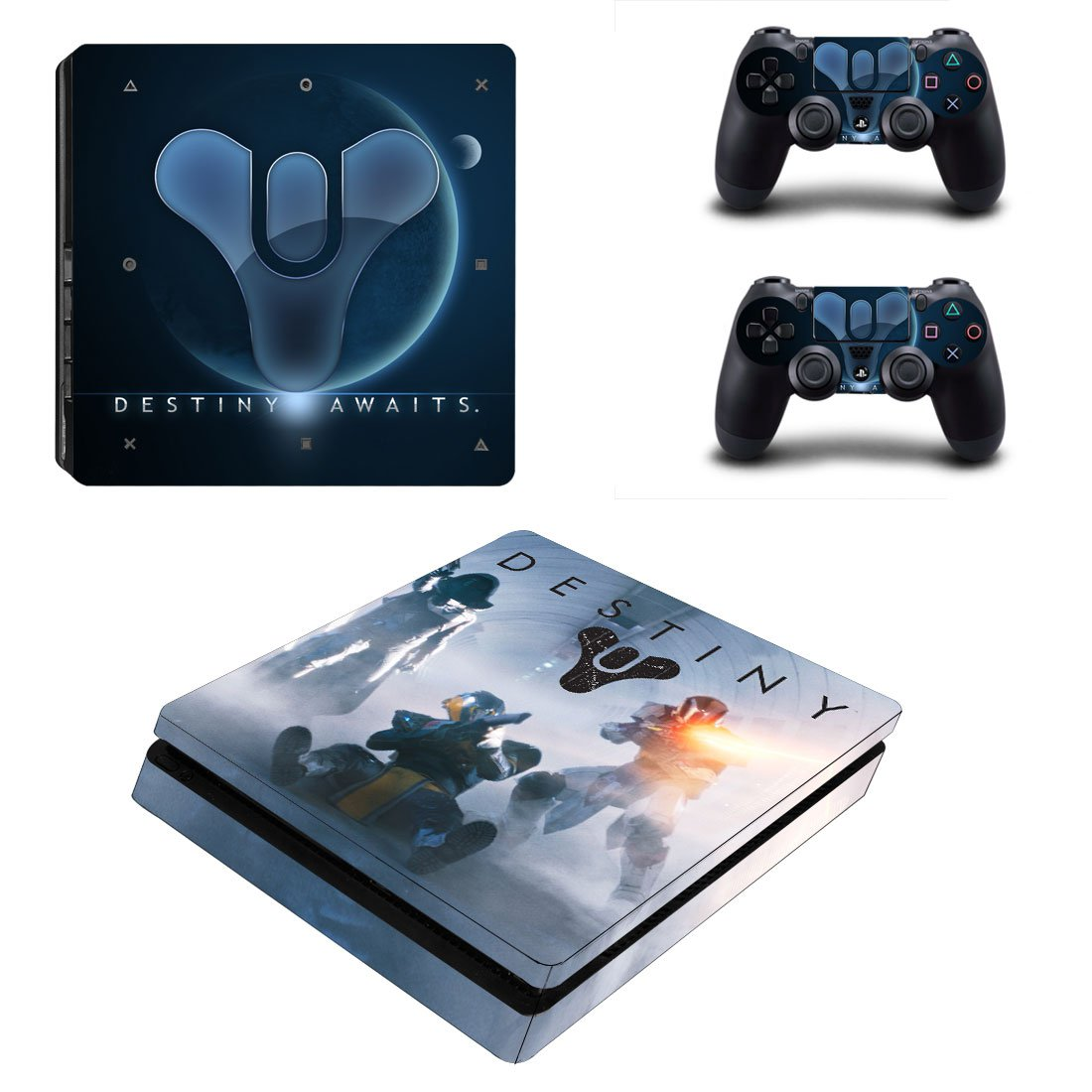Destiny PS4 Slim Skin Sticker Decals PS4 Console And Controllers Protect Your PS4