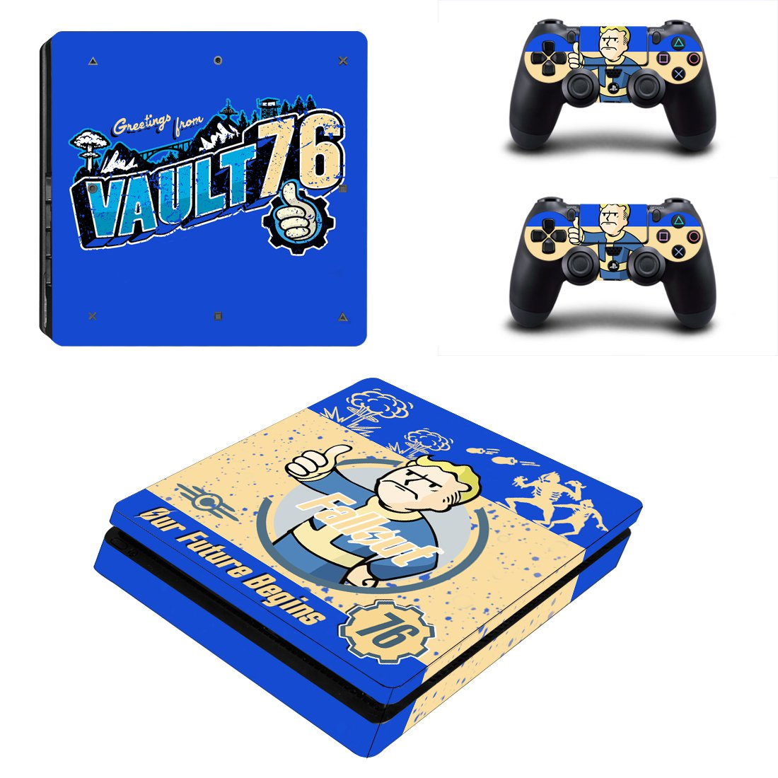 Fallout 76 PS4 Slim Skin Sticker Decals PS4 Console And Controllers Protect Your PS4