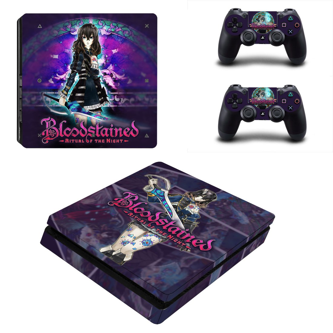 Bloodstained PS4 Slim Skin Sticker Decals PS4 Console And Controllers Protect Your PS4