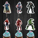 Avengers Superhero Assorted Cupcake Toppers Printable Digital Instant Download