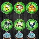 Ben 10 Alien Monsters Assorted Cupcake Toppers Digital Printable Instant Download