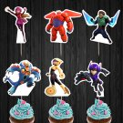 Big Hero Six 6 Disney Pixar Assorted Cupcake Toppers Printable Digital Instant Download