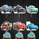 The Cars Disney Pixar Cupcake Toppers Digital Printable Instant Download