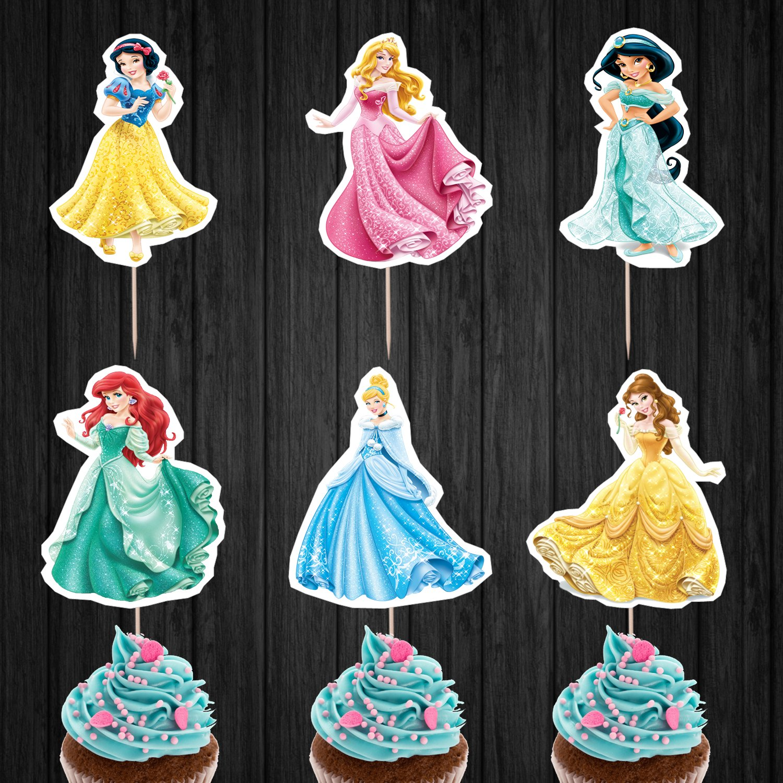 Disney Princesses Cupcake Toppers Princess Digital Printable Instant Download