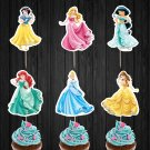 Disney Princesses Cupcake Toppers Princess Digital Printable Instant Download