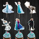 Frozen Disney Elsa Anna Cupcake Toppers Princess Olaf Digital Printable Instant Download